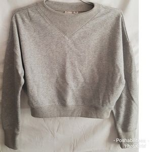 Anthropologie cropped gray sweatshirt